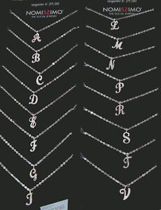 COLLANA-LETTERA-INIZIALE-Swarovski-Argento-Tutte-le-lettere-Nomissimo