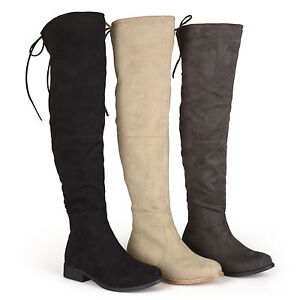 Brinley Co. Womens Wide Calf Faux Suede Over-the-knee Boots | eBay