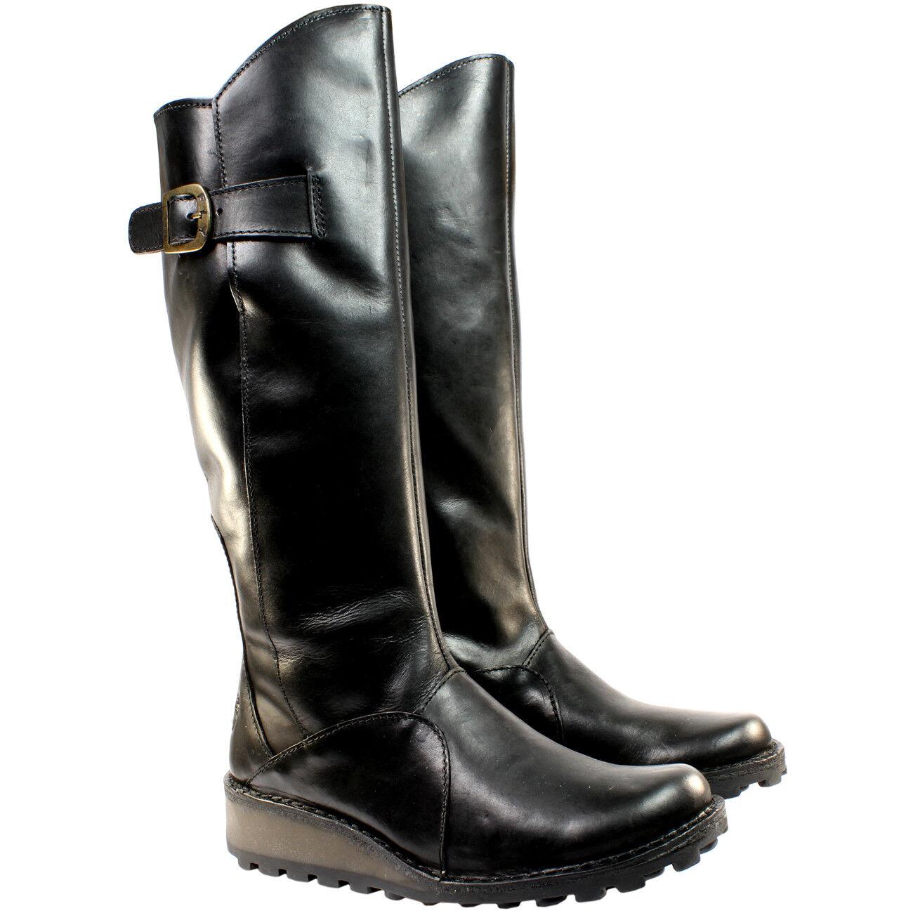FLY LONDON Mol 2 Niedrig, knielange Stiefel schwarz