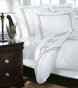 Embroided Duvet Cover Full Queen Craft Brown Home Decorators Collection