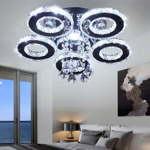 Modern-Crystal-Chandelier-5-Rings-Ceiling-Light-Fixture-Stainless-Steel-Pendant
