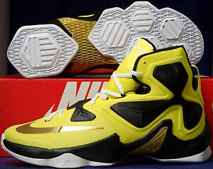 fea330bc995 Nike Lebron XIII 13 iD Tour Yellow Black White SZ 9.5 ( 836141-992 ...