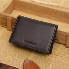 Men's Leather Wallet Bifold ID Credit Card Holder Mini Purse Money Clip Purse