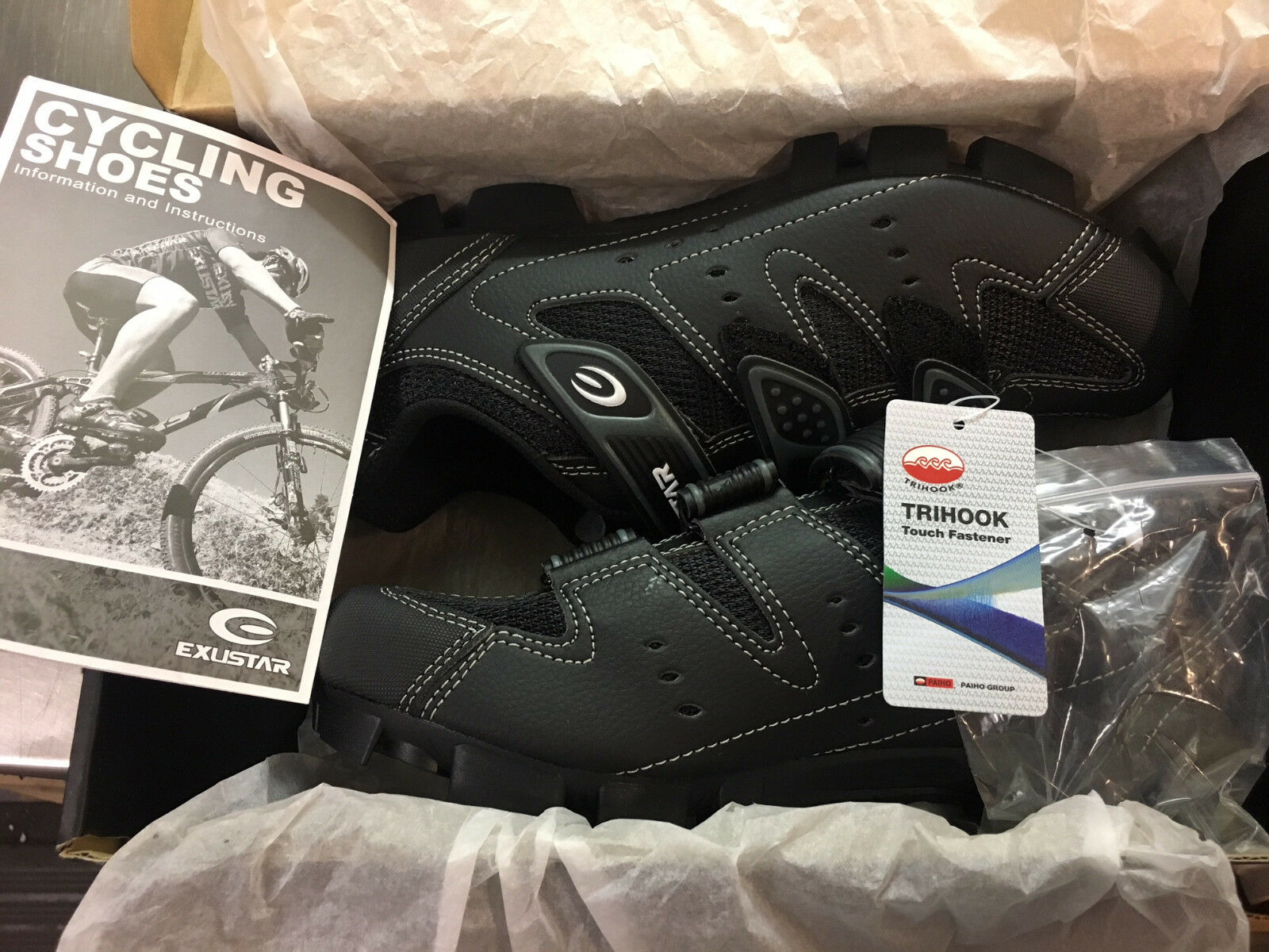 Exustar Cycling shoes E-SM324 Men's Size 6.5   Euro 39   Brand New in Box