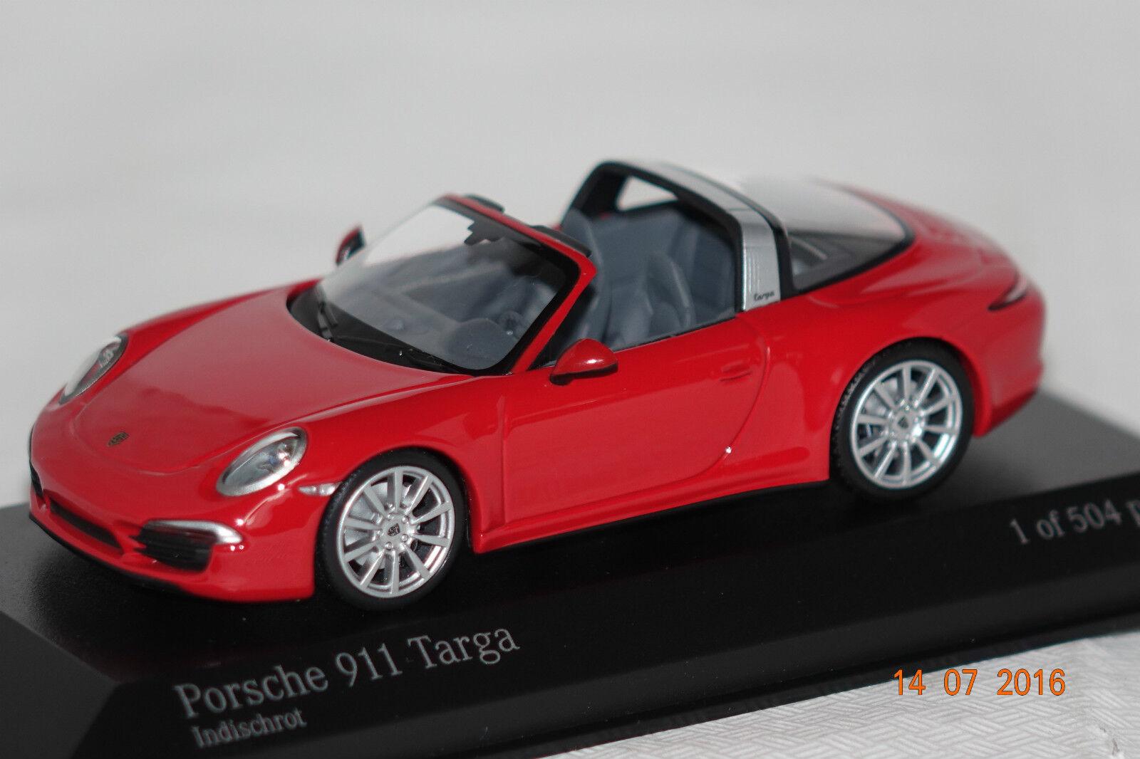 Porsche 911 Targa 2013 red 1 43 Minichamps neu & OVP 410062440