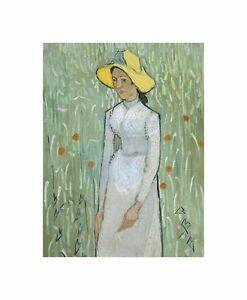 Vincent-Van-Gogh-Dutch-Girl-White-Old-Art-Painting-Canvas-Print