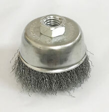 """3"""" Knot Type Fine Wire Cup Brush Wheel 5//8/"""" Arbor FITS 4-1//2/"""" Angle Grinder  TS"""