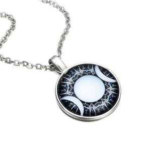 Triple-Moon-Goddess-Pendant-Jewelry-Moon-Goddess-Glass-Dome-Pentagram-Necklace