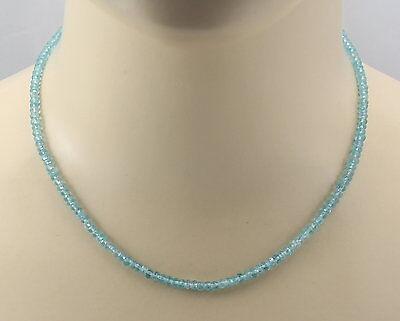 Systematisch Apatit-kette - Türkisblaue Facettierte Apatite Halskette Für Damen 44 Cm Lang