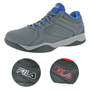Fila-Men-039-s-Bank-Casual-Lace-Up-Low-Top-Court-Basketball-Athletic-Shoes
