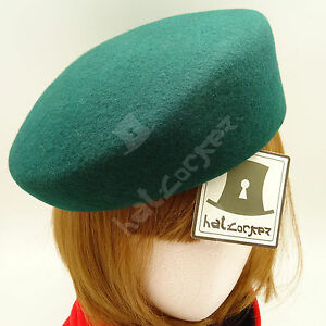 FASHION Wool Felt Women Pillbox Hat Ladies Cadet Military ROYAL ... 071564a4df4