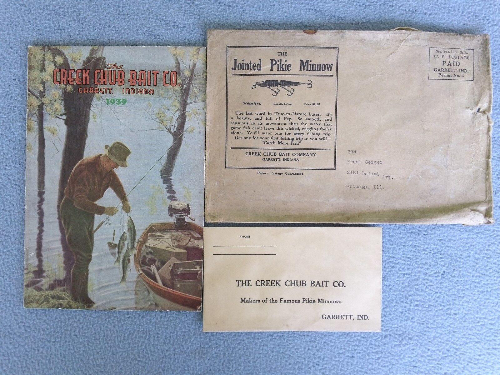 RARE VINTAGE 1939 CREEK CHUB BAIT COMPANY CATALOG-GARRETT, INDIANA -VERY GOOD