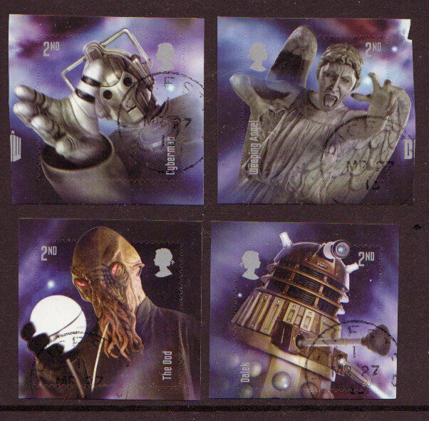 GREAT BRITAIN 2013 DOCTOR WHO SET 4 EX MINIATURE SHEET FINE USED