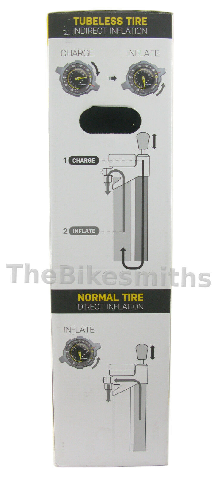 Topeak Joe Blow Charge Booster Charge Blow Tubeless Tire Compatible Pump Fat MTB Road Bike e4db74