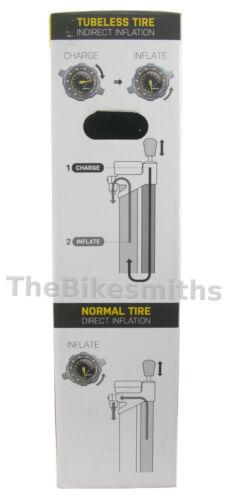 Topeak Joe Blow Booster Charge Tubeless Tire Compatible Pump Fat MTB Road Bike