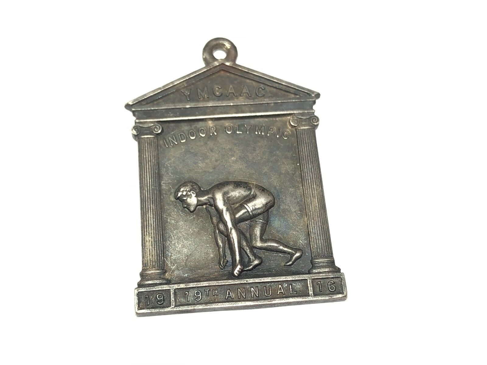 Original Vintage 1916 YMCAAC Indoor Olympic 19th Annual Running Medal Signed