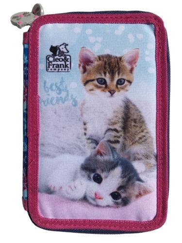 Katzen 2-Fach Federtasche ungefüllt Federmäppchen Federmappe Kätzchen