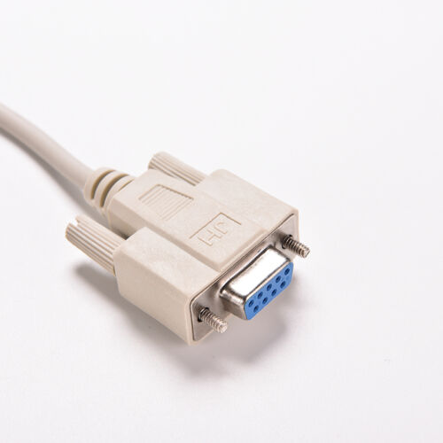 White RS232 Null Modem Cable Female to Female DB9 5ft 1.5m Cross connector NJ