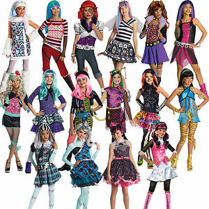 Image is loading Official-Child-Girls-Monster-High-Kids-New-Fancy- & Official Child Girls Monster High Kids New Fancy Dress Halloween ...