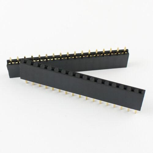 5Pcs 2.54mm Pitch 1x17 Pin 17 Pin Female Single Row Straight Header Strip