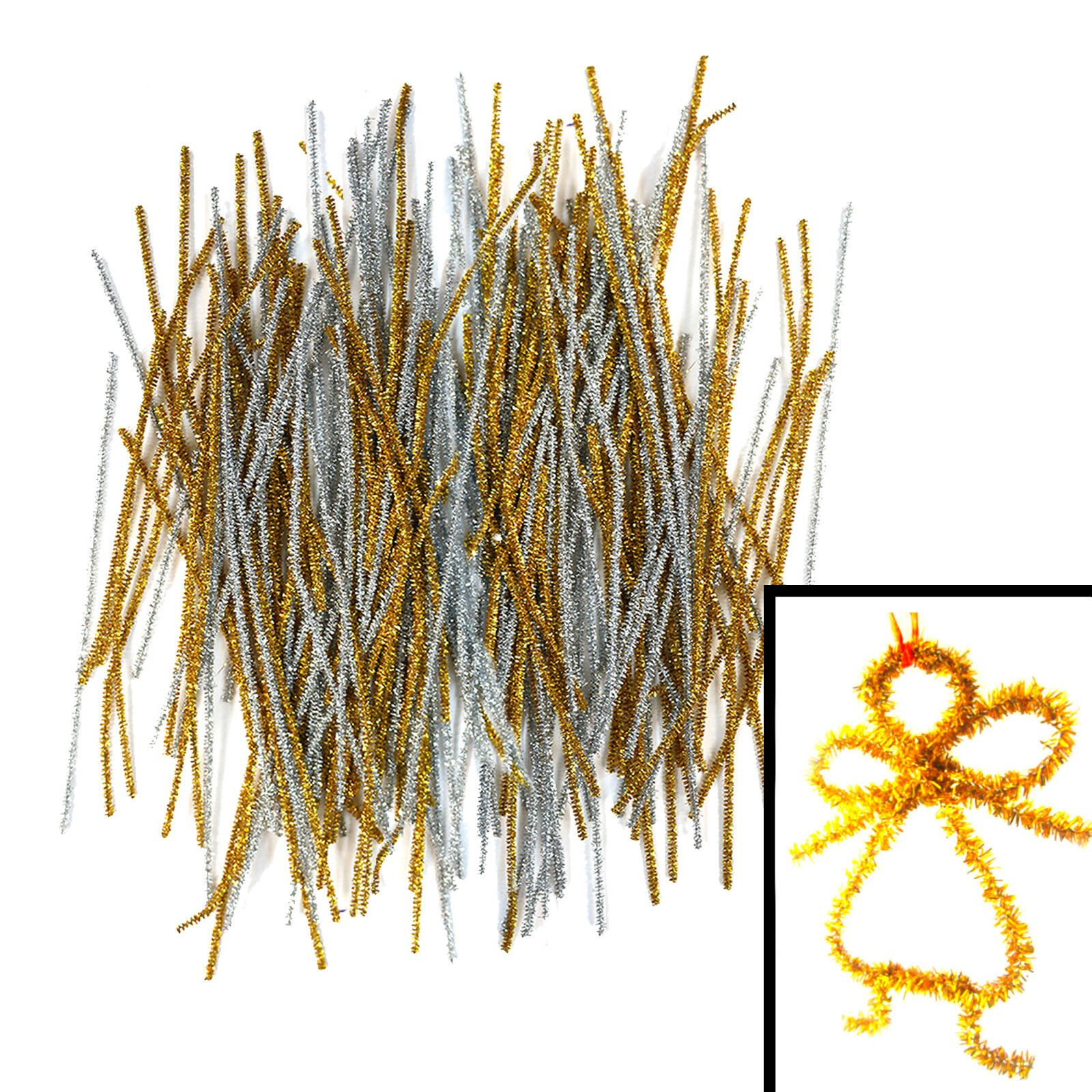 Chenille stems Sticks Puzzle Craft Children Pipe Cleaner E cleaners UK white New
