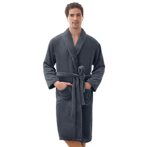 0699363ccc Bathrobe Coral Fleece Spa Robe Shawl - UNISEX - Thick - VERY SOFT ...