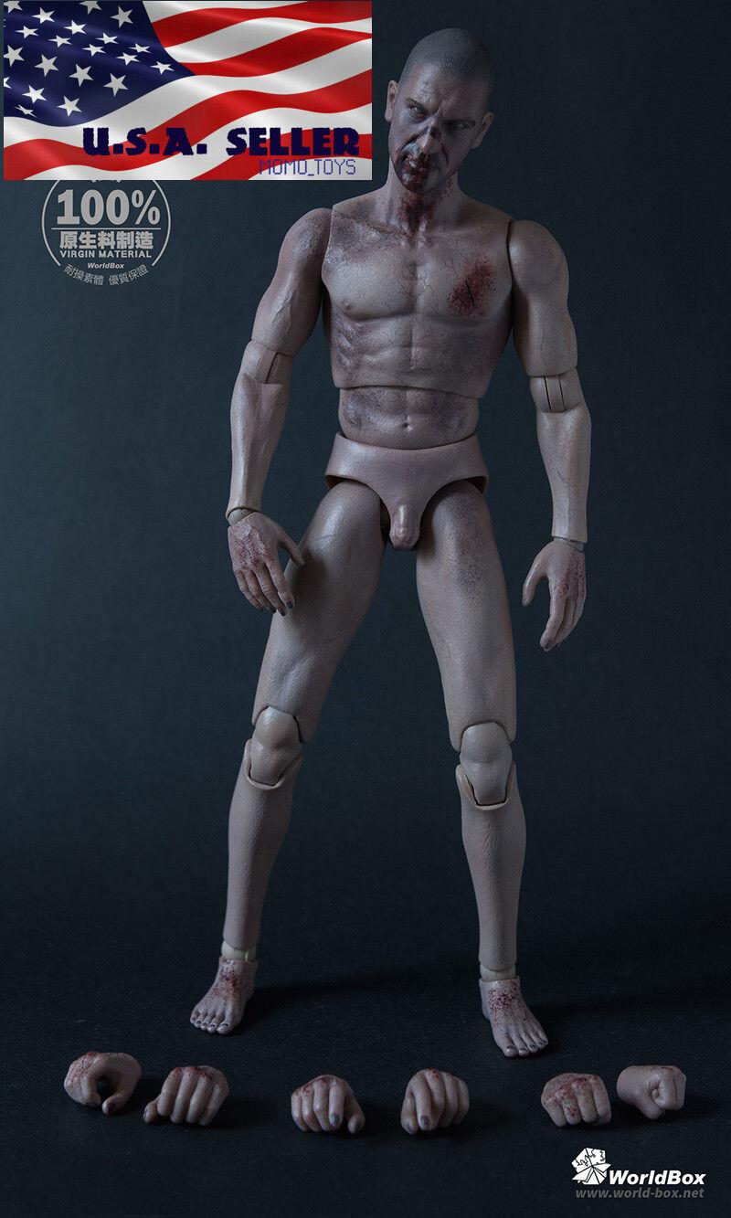 1 6 The Walking Dead Zombie MacHo figura fuerte durable Figura Set WORLDBOX ❶ USA ❶