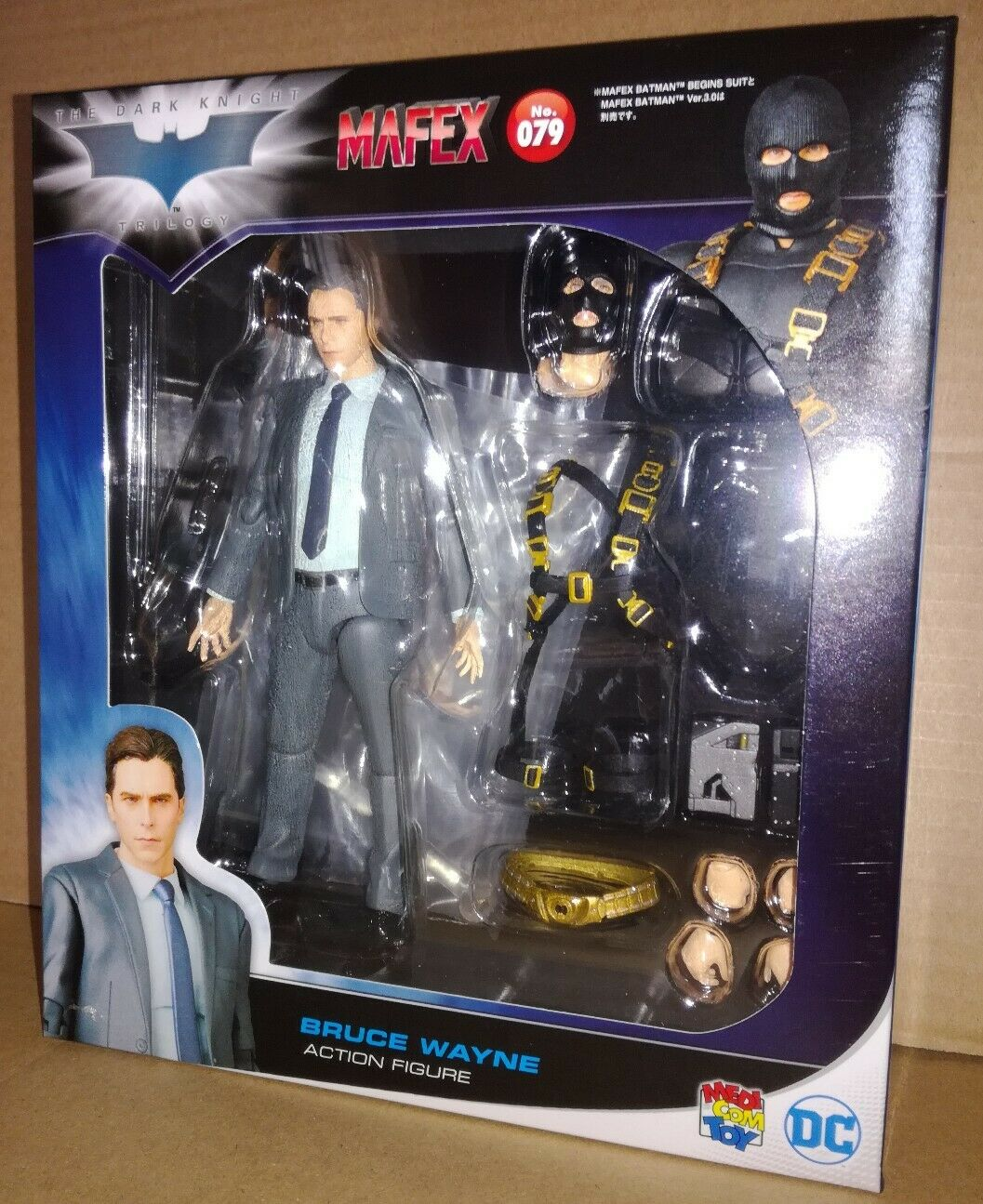 Medicom mafex 079 batman begins bruce wayne the dark knight rises dc comics 79