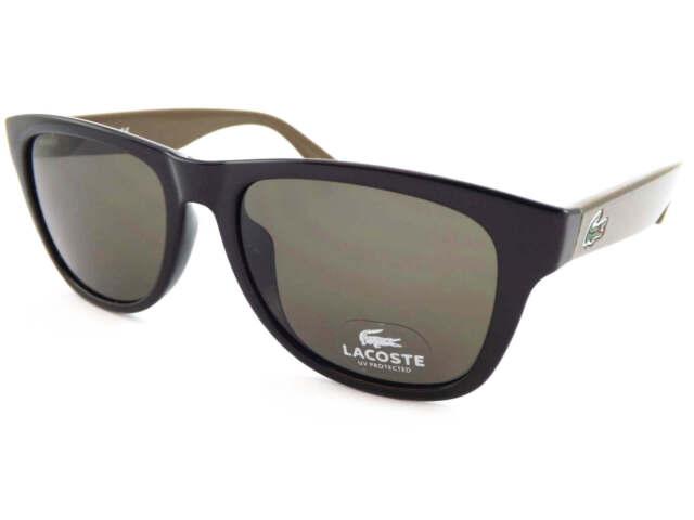 a9ba0e1cf05a LACOSTE unisex Sunglasses Black-Brown Pique Arms  Dark Brown Lenses L734S  001
