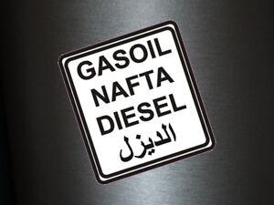 1-x-Aufkleber-Diesel-Nafta-Gasoil-Arabisch-Tank-Sticker-Benzin-Tuning-Auto-Fun