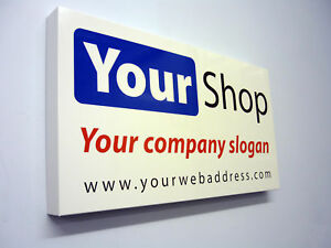 shop front sign tray folded alu composite any size ebay