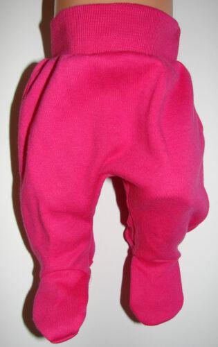 Frühchen Hose Babyhose mit Fuß Gr 38 44 Muster Mädchen Jungen Ökotex NEU