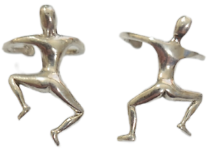 Ear Cuffs Climbing Man 925 Sterling Silver You get 2 Pieces 1 Pair # 34