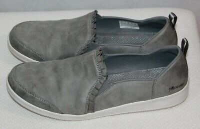 Skechers Grey Ruffle-Edge Slip-On Shoes