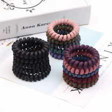 Concise Rubber Telephone Wire Hair Ties Hair Head Elastic Bands Spiral  Slinky 16d110f4f04