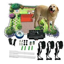 3 Cães Impermeável Coleira de choque subterrâneo cerca elétrica para cães Sistema De Esgrima