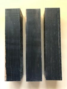 Schwarzes-Ebenholz-Ebony-Drechselholz-Tonholz-Tonewood-350-x-75-x-75mm