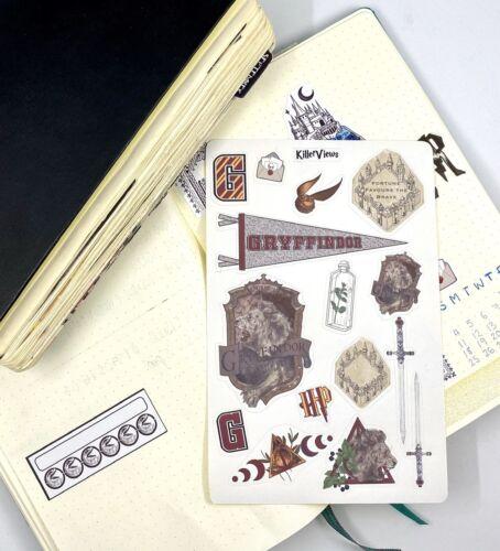 Asistente de casa de Harry Potter planificador Pegatina Hojas juego para el Kit de diario de bala