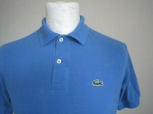 MEN-039-S-LACOSTE-POLO-SHIRT-size-3-S-M-sky-blue-classic-Devanlay-80s-casuals-t