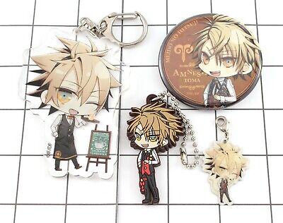 Amnesia Ukyo Otome game Can Badge Acrylic Rubber strap Ita bag Sets 5 choices