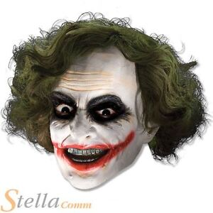 Adulto-Joker-3-4-Vinilo-Mascara-Cabello-Halloween-batman