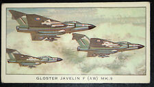 Gloster Javelin F (AW) MK.9 Royal Air Force Fighter  Illustrated  Card # VGC