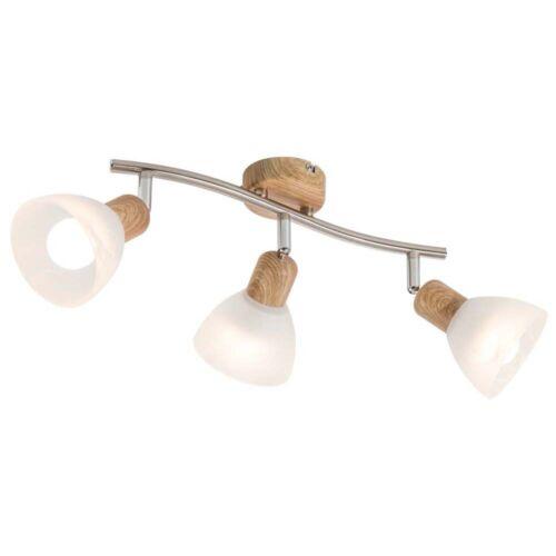 LED Decken Lampe Spot Strahler beweglich Dimmbar Beleuchtung Holz-Design Diele