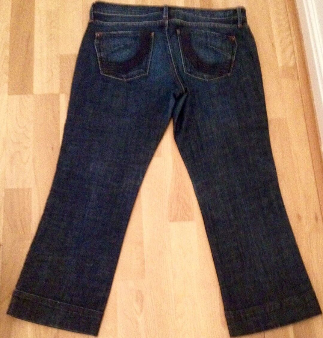 Ladies Gorgeous Dark bluee Denim US JAMES Jeans 3 4 Length Stunning Fit size 28
