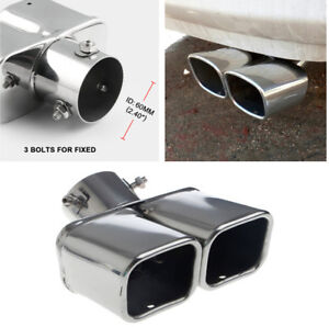 Universal-2-4-034-Stainless-Steel-Twin-Double-Dual-Chorme-Straight-Pipe-Exhaust-Tip