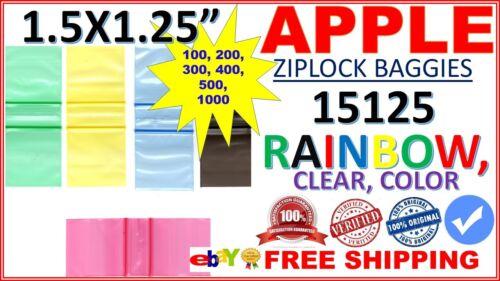 """Apple baggies 1.5/"""" x 1.25/"""" 15125 mini Ziplock bags Zip Lock Baggies Zipper Seal"""