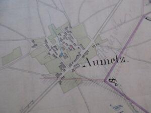 GéNéReuse Carte Manuscrite Concession Mines Moselle Annexion Aumetz Ludelange Bassompierre