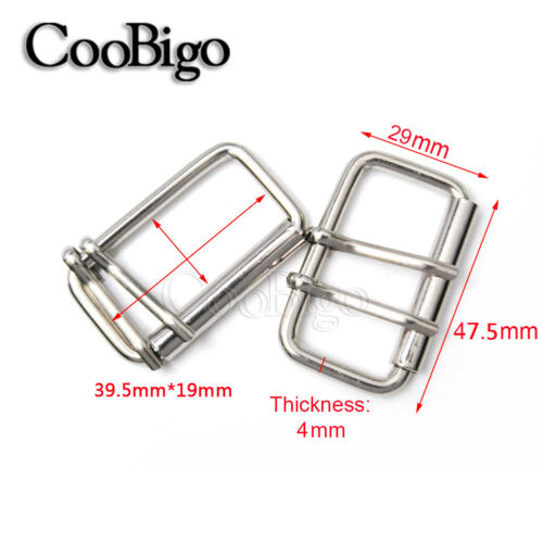 """Size 5//8/"""" 3//4/"""" 1/"""" 1-1//4/"""" 1-1//2/"""" Pins Belt Roller Buckle Metal Belt Bag Parts"""