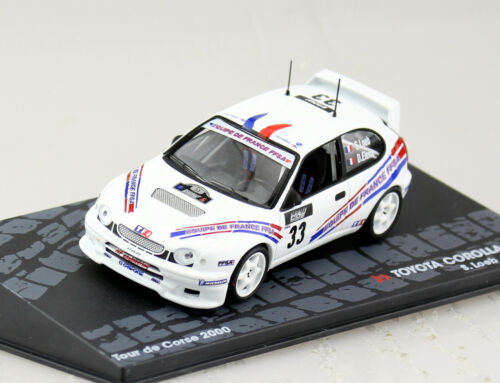 Toyota Corolla WRC Rally Korsika 2000 #33 1:43 Altaya Modellauto