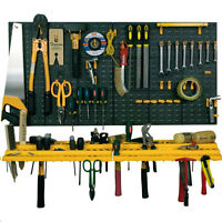Garage Wall Tool Rack Workshop Storage Kit Pegboard Organiser Shed Hook Holder